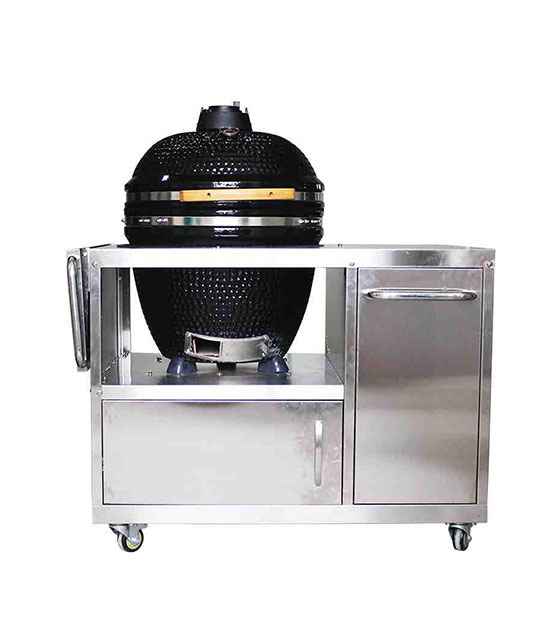 LUXURIOUS KAMADO WITH SS TABLE
